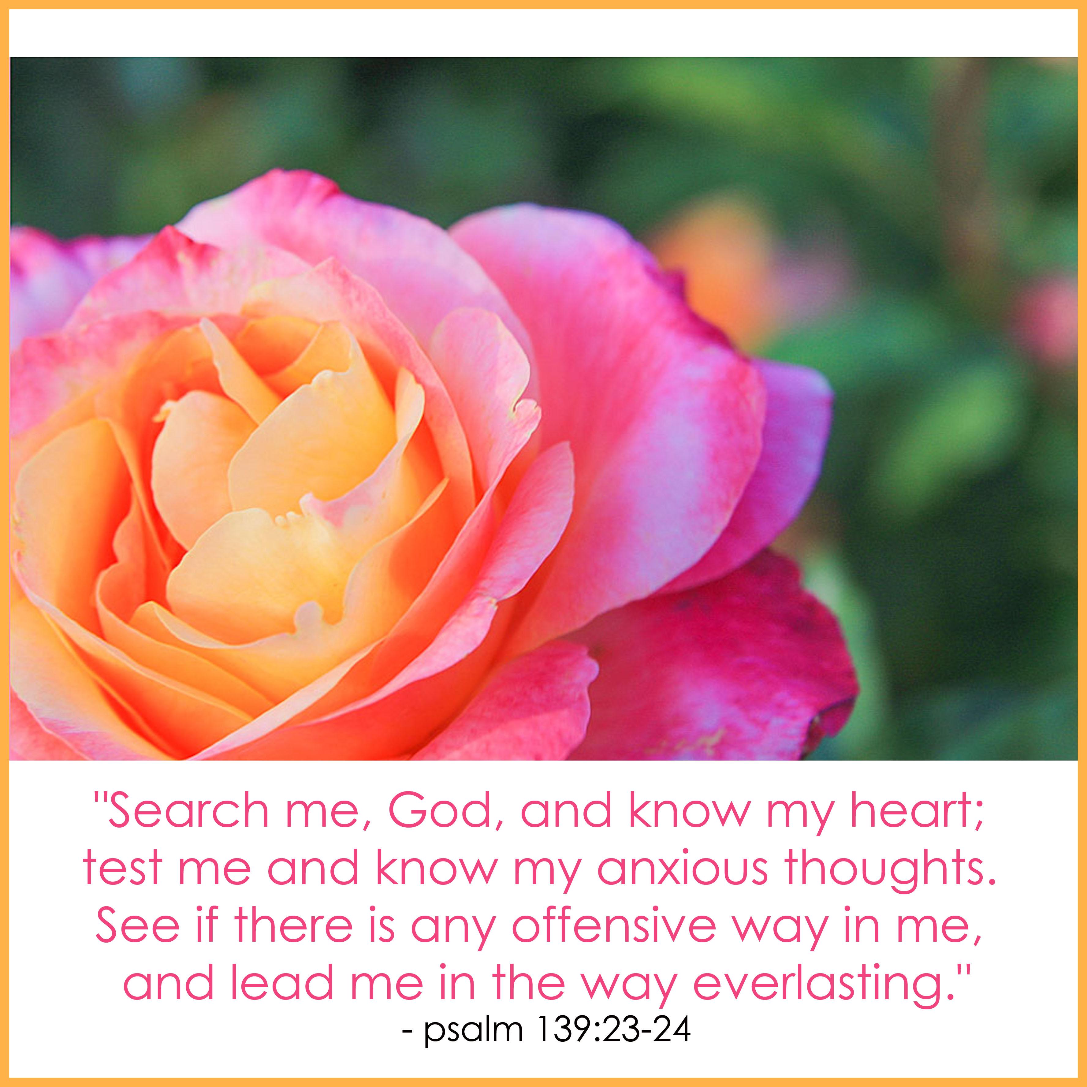Psalm 139vs23-24